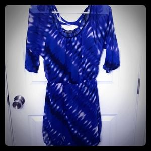 Express Sheer Dress Tiedye